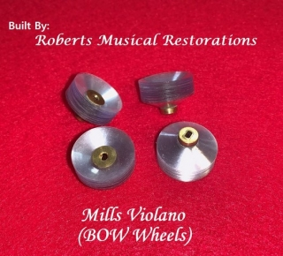 Mills Violano Bow Wheels